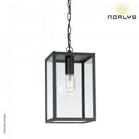 Lofoten 8 Black Ceiling Chain Light by Norlys