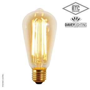 Original BTC E27 3 Watt Squirrel Cage LED Bulb