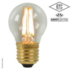Original BTC E27 Dimmable 4 Watt Clear Glass Golf Ball Filament LED Bulb