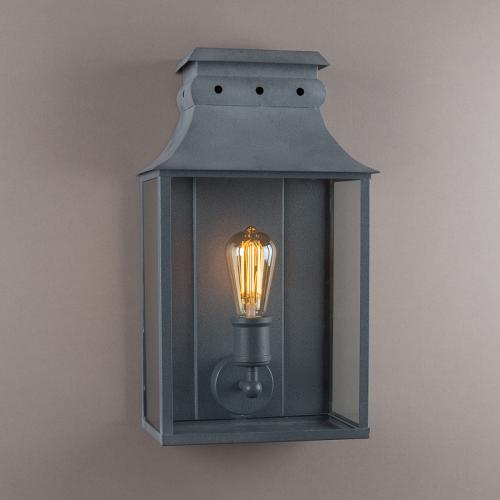 Bath Coach Lamp Weathered Zinc Medium