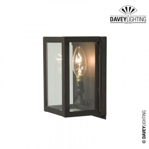 Box Wall Light Miniature 7643 Weathered Brass by Davey Lighting