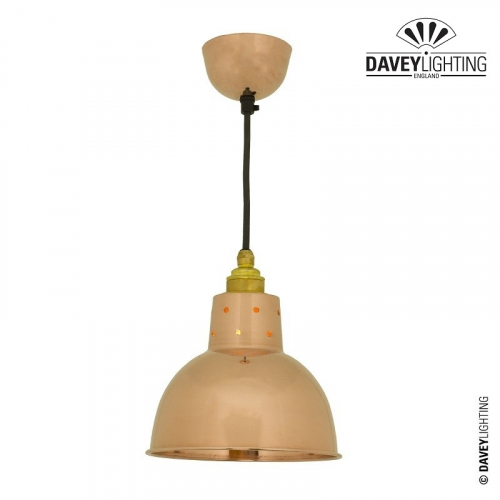 Pendant 7165 Polished Copper Cord Grip by Davey Lighting