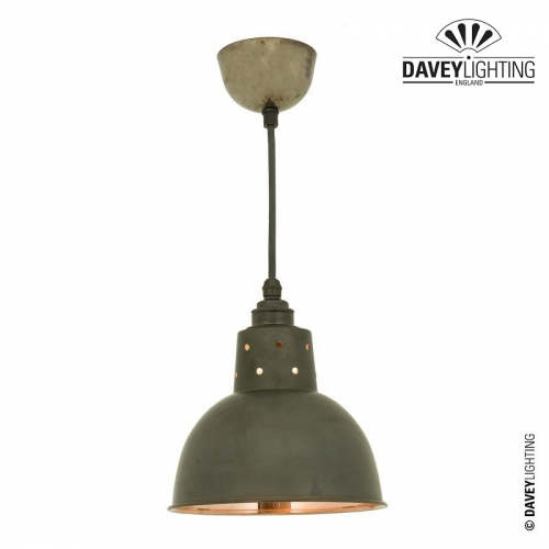 Pendant 7165 Weathered/Polished Copper Cord Grip by Davey Lighting