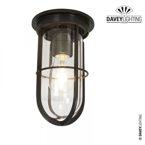 Ship's Companionway Light With Guard 7203 Weathered Brass by Davey
