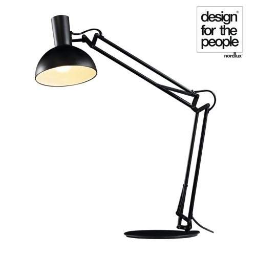 Arki Black Desk / Wall Light by Design For The People