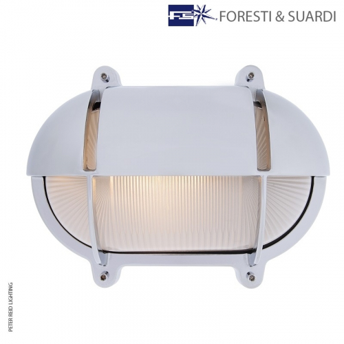 Oval Bulkhead Light With Eyelid 2434 Extra Large by Foresti & Suardi