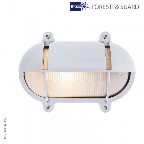 Oval Bulkhead Light With Eyelid 2435 Large by Foresti & Suardi