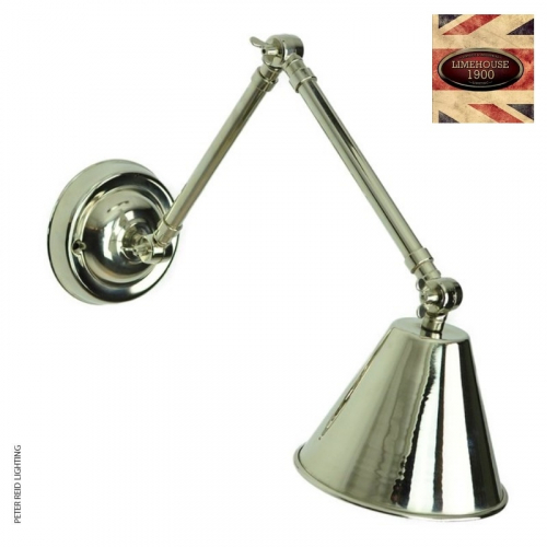 Map Room Double Arm Adjustable Wall Light by Limehouse Lamp Co