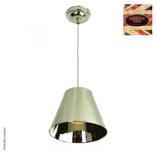 Map Room Single Pendant by Limehouse Lamp Co