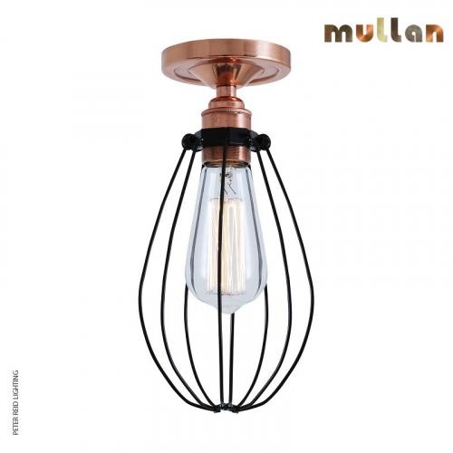 Abuja Semi Flush Ceiling Light by Mullan Lighting