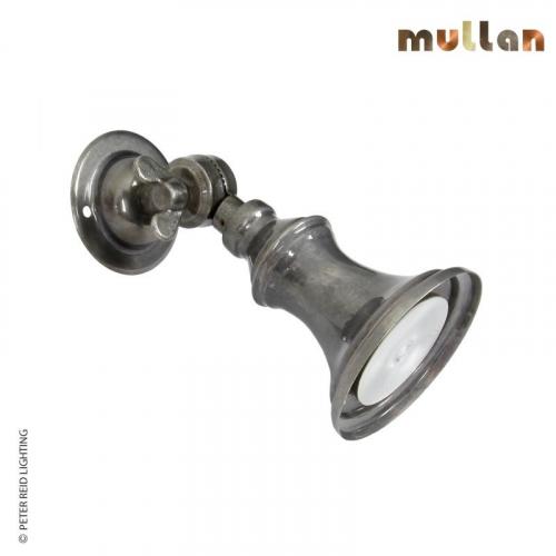 Accra Traditional Brass Spot Light Small by Mullan Lighting