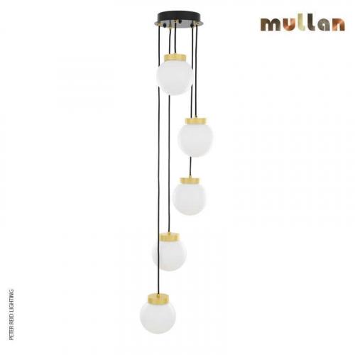 Agusta 5 Globe Chandelier by Mullan Lighting
