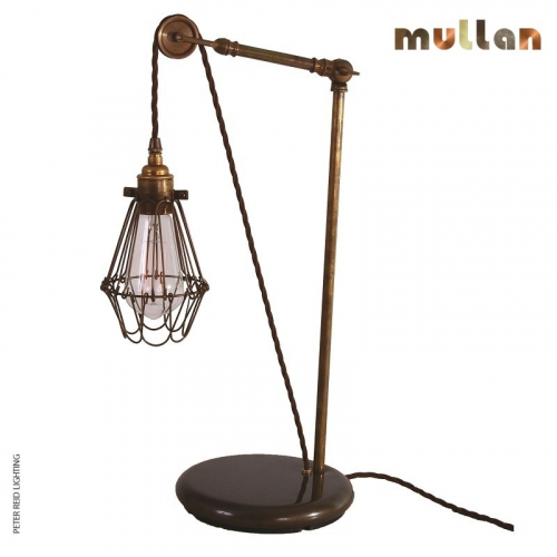 Apoch Pulley Cage Table Light by Mullan Lighting