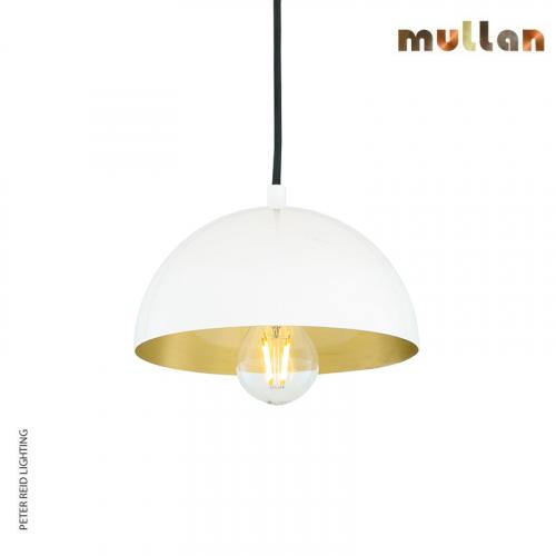 Avon Brass Dome Pendant 20cm by Mullan Lighting