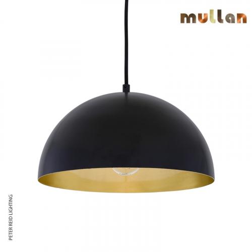 Avon Brass Dome Pendant 30cm by Mullan Lighting