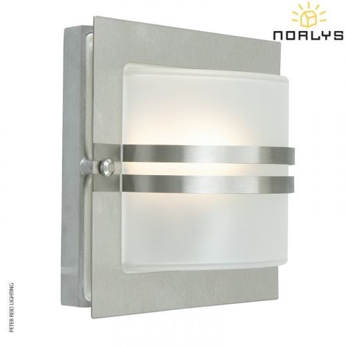 Bern Stainless Steel Frosted Glass by Norlys