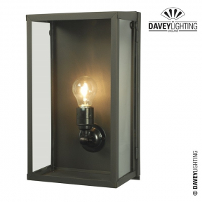 Box Wall Light Large Internally Glazed 7645 by Davey Lighting