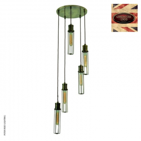 Alexander 5 Light Cluster Pendant by Limehouse Lamp Co