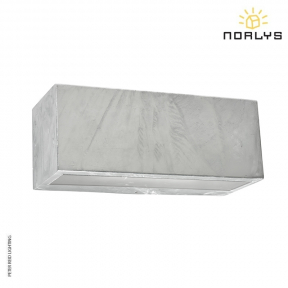 Asker Large Up/Down Wall Light Galvanized by Norlys