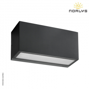 Asker Small Up/Down Wall Light Graphite by Norlys