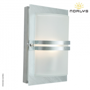 Basel Galvanized Steel Frosted Glass by Norlys
